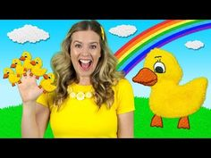"Help Mama Duck find all her little ducks in the kids nursery rhyme ""Five Little Ducks""! Can you count all the ducks with Rachel? Learn counting while you sin. Rhymes For Toddlers, Rhymes For Babies, Music Nursery, Nursery Rhymes Songs, Little Duck, Five Little, Baby Songs, Kids Songs, Preschool Poems"