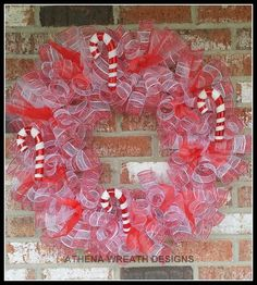 Hey, I found this really awesome Etsy listing at https://www.etsy.com/listing/214619490/deco-mesh-candy-cane-18-wreath