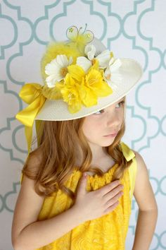 Yellow Flowered hat
