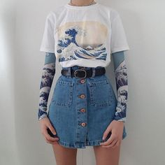 outfit ideas have a big impact on fashion. We have a pretty iconic outfits ideas which are still in use. Tumblr Outfits, Edgy Outfits, Mode Outfits, Retro Outfits, Grunge Outfits, Girl Outfits, Spring Outfits, Cute Vintage Outfits, Unique Outfits