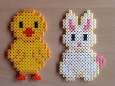 Påske Melty Bead Patterns, Pearler Bead Patterns, Perler Patterns, Beading Patterns, Easter Crafts, Crafts For Kids, Perler Bead Templates, Hama Beads Design, Peler Beads