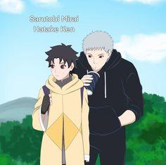 Mirai Sarutobi and Ken Hatake Kakashi Hatake, Hatake Clan, Shikamaru, Naruto Oc, Naruto Cute, Future Girlfriend, Boruto Next Generation, Romantic Love Stories, Cartoon Profile Pics
