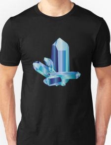 Aquamarine Crystal Design T-Shirt