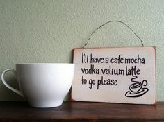 Funny Coffee Sign Hand Painted Wooden Sign by TuckersMercantile Funny Kitchen Signs, Kitchen Humor, Funny Signs, Coffee Theme Kitchen, Painted Wooden Signs, Hand Painted, Pots, Coffee Humor, Funny Coffee
