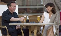Thousands sign petition to BAN Cameron from returning to UK - David Cameron and Samantha Cameron in Lanzarote