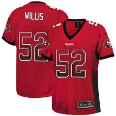 d91c8c119 nike nfl jersey Nike Vernon Davis Red Team Color Women s Embroidered NFL  Elite Drift Fashion Jersey nfl jersey by nike. san francisco 49ers store