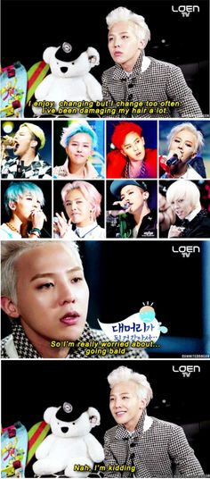 Love your every hairstyle. But.. can I see your original black hair? #GDRAGON #KwonJiYong #meme [allkpop]