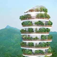 The Canopy Tower - Hong Kong - The Canopy is a soaring residential tower in Hong Kong in which each of the 54 luxurious duplexes are surrounded by a large private garden.