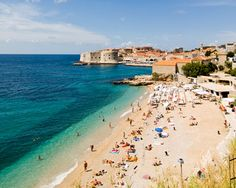 Croatia Beaches in the city of Dubrovnik