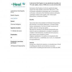 Oracle Customer Snapshot Laboratorios Heel España crea una plataforma de pedidos un 75% más rápida y ahorra 15.000 euros en costes de desarrollo Laboratorio. http://slidehot.com/resources/laboratorios-heel-jde-snap-shot-espanol.46072/