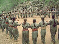 Komala Party PDK Pashmarga Peshmerga Kurdish girls of the national dances