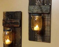 Casa rústica decoración candelabros por TeesTransformations en Etsy
