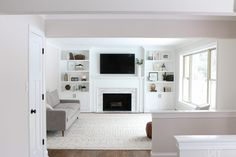 5 Playful Cool Ideas: Livingroom Remodel Fixer Upper living room remodel on a budget bedrooms.Living Room Remodel Before And After Apartment Therapy livingroom remodel house.Small Living Room Remodel Mobile Homes. Fireplace Bookshelves, Fireplace Built Ins, Brick Fireplace Makeover, Home Fireplace, Fireplace Remodel, Fireplace Design, Bookcases, Small Fireplace, Fireplace Ideas