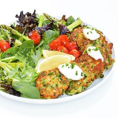 Zucchini and HALOUMI fritters for Friday night #iqs8wp dinner, which are always a hit in this house. My 1 yr old son was at my feet as I fried them up, saying 'mumumumumumum' until I fed him the fritters on the kitchen floor. He ate four all on his own!