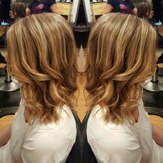 Babylights and a long bob #valerieatglossomaha #hairbyvalerie #longbob #redken5thave