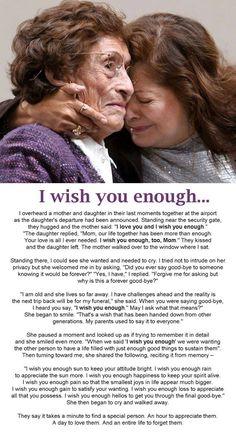 I wish you enough . .........: Mamma