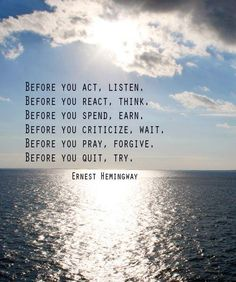 Hemingway - Wisdom
