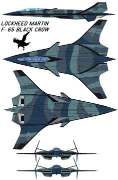 Lockheed Martin F-65 black crow by bagera3005.deviantart.com on @deviantART