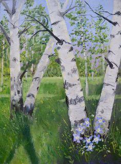 Aspen painting fine art landscape painting plein air landscape