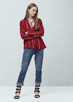 Bedruckte boho-bluse - Hemden für Damen | MANGO Österreich