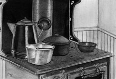 Home Cook'n. Miniature. Unsigned Print. Archival Quality by LynnCainFineArt on Etsy