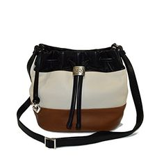 Brighton Brit Mini Striped leather Drawstring Xbody Bag B…