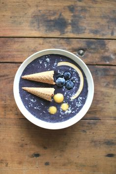 Make shofar smoothie bowls for the Feast of Trumpets   Land of Honey Smoothie Bowl, Smoothies, Yom Teruah, Trumpets, Acai Bowl, Bowls, Beverages, Honey, Ice Cream