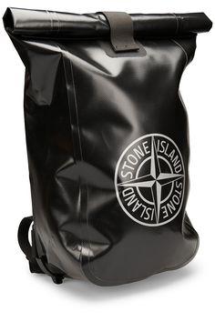 Stone Island Dry Bag Black Stone Island Bag, Canvas Leather, Leather Bag, Bape, Stone Island Shadow Project, Denim Bag, Cool Backpacks, Stylish Men, Bag Accessories