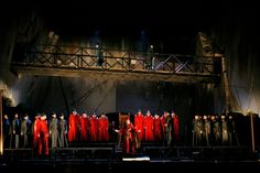 I Due Foscari from LA Opera. Directed by Thaddeus Strassberger. Sets by Kevin Knight.