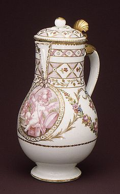 Ewer, 1775–1780, France, hard paste porcelain. La Courtille Locré period (1773–1787)