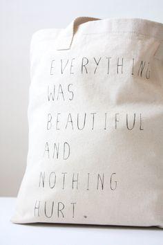 Kurt Vonnegut Tote Bag - Screen Printed Slaughterhouse-Five Tote Bag.