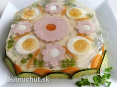 Fotorecept:+Aspiková+torta Buffet, Food Decoration, Fresh Rolls, Food And Drink, Eggs, Easter, Treats, Breakfast, Ethnic Recipes