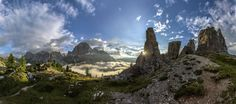 Cinque Torri panorama Photo by James Rushforth — National Geographic Your Shot
