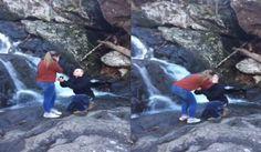 #Fail Le pidió matrimonio a su novia en una cascadas y lo peor ocurrió (Video)