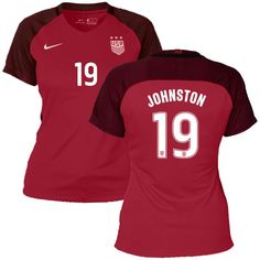 6c5640a52 Julie Johnston US Soccer Nike Women s 2017 Third Stadium Replica Jersey -  Red