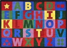 This alphabet rug is made to last for years. The commercial quality can be used in high traffic areas including museums and waiting areas.  http://www.sensoryedge.com/oversize-alphabet-childrens-rug.html