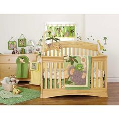 """$199.99 in store pickup or ships in 1-2 days NoJo Jungle Babies 9-Piece Crib Bedding Set - NoJo - Babies """"R"""" Us"""
