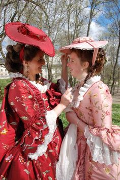 """18thC inspired costumes from the """"Gustavian"""" era 1768-1792 . (c) Duran Textiles. Swedish 18th century textiles reconstructed in India then costumes fashioned in Sweden."""