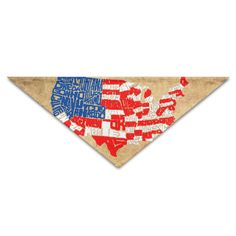 Cute USA Flag Map Scarf Triangle Bandana Scarves Triangle Scarf * Quickly view this special dog product, click the image : Dog Bandanas