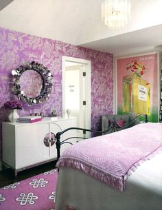 Madeline Weinrib Mulberry Megan Tibetan Carpet in designer Karen Bow's house, featured in At Home, May/June.