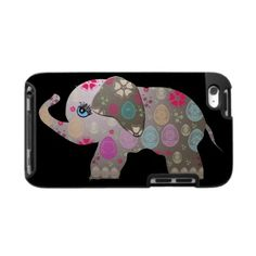 Cute bright elephant iPod cases by #Clareville