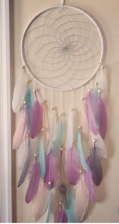 Cute Suede Leather Red 6cm Web Bone beads Dream Catcher 27cm Total Length