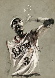 """I had a lot of growing up to do. A lot of times, I learned the hard way."" - Allen Iverson  drawing by florian nicolle"
