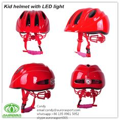 unqiue deisgn child helmet with led light, it's become multi-function and useful model,our website is:www.helmetsupplier.com