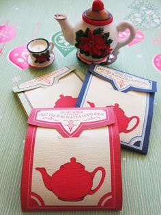 FREE printable tea bag envelopes for cookies and treats - love it