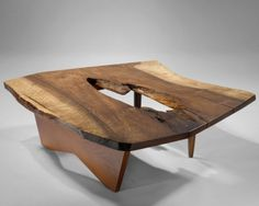 George Nakashima Coffee Table, English walnut {h. in, w-SR Art Furniture, Live Edge Furniture, Walnut Furniture, Studio Furniture, Rustic Furniture, Furniture Design, Muebles Art Deco, George Nakashima, Live Edge Wood