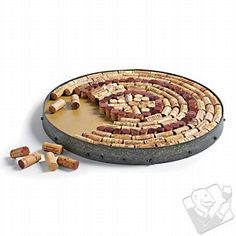 looking for more ways to use my corks. Wine Barrel Hoop Cork Kit #WineEnthusiast