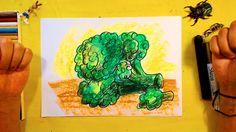 Как нарисовать БРОККОЛИ / Урок рисования для детей от 3 лет