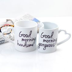 When you just cant get enough of each other, show it with His and Hers coffee mugs!
