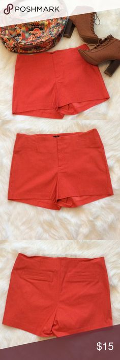 Orange Shorts Orange shorts. Pair with this cute Jessica Simpson bag that's also for sale in my closet Waist 16 inches approx From waist to bottom hem 11.5 inches approx Shorts